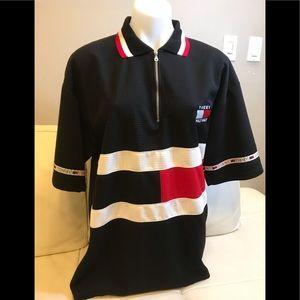 Men's Tommy Hilfiger Black/White/Red Polo Shirt
